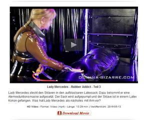 Domina-Bizarre: Lady Mercedes - Rubber Addict - Teil 3
